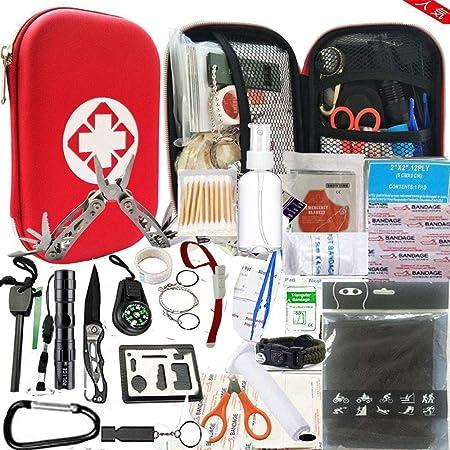 hosum 救急セット ファーストエイド キット 災害 登山 アウトドア サバイバル 旅行 自宅 携帯用 緊急応急 救急箱