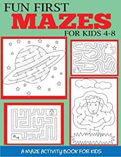 Fun First Mazes for Kids 4-8: A Maze Activity Book for Kids (Maze Books for Kids)