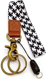 Happy Monkey Hand Wrist Lanyard Key Chain Holder/USB/Mobile Phone (Black+w)