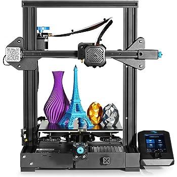 Creality Ender 3 V2 3D Printer Upgraded Version of Ender 3 Pro: 32-bit Silent Motherboard, Carborundum Glass Bed, Resume Printing, Build Volume 220 x 220 x 250mm, Ideal for Beginners
