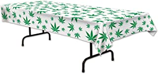 Beistle 59880 Tropical Fern Leaf Tablecover, 54