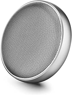 Bluetooth Speakers Mini Creative Mobile Phone Portable Wireless Bluetooth Audio Subwoofer Large Capacity Waterproof Living Speaker Bluetooth Speaker (Color : Silver)