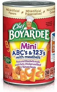 Chef Boyardee Mini-Bites ABC's & 123's w/ Meatballs-15 oz