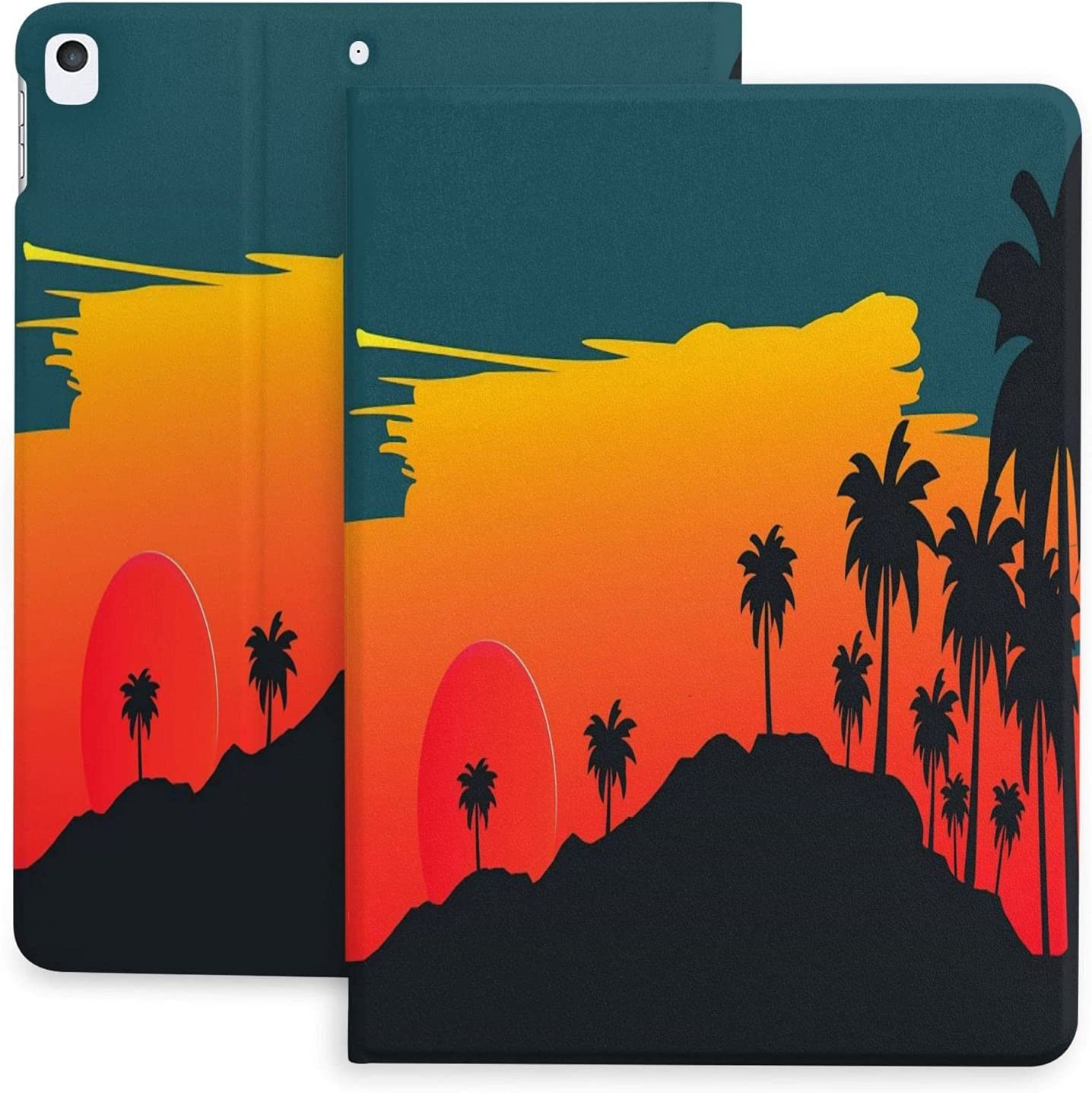 Funny Printed Sunset Palm Slim Hard Shell Prote Lightweight Surprise price mart Back