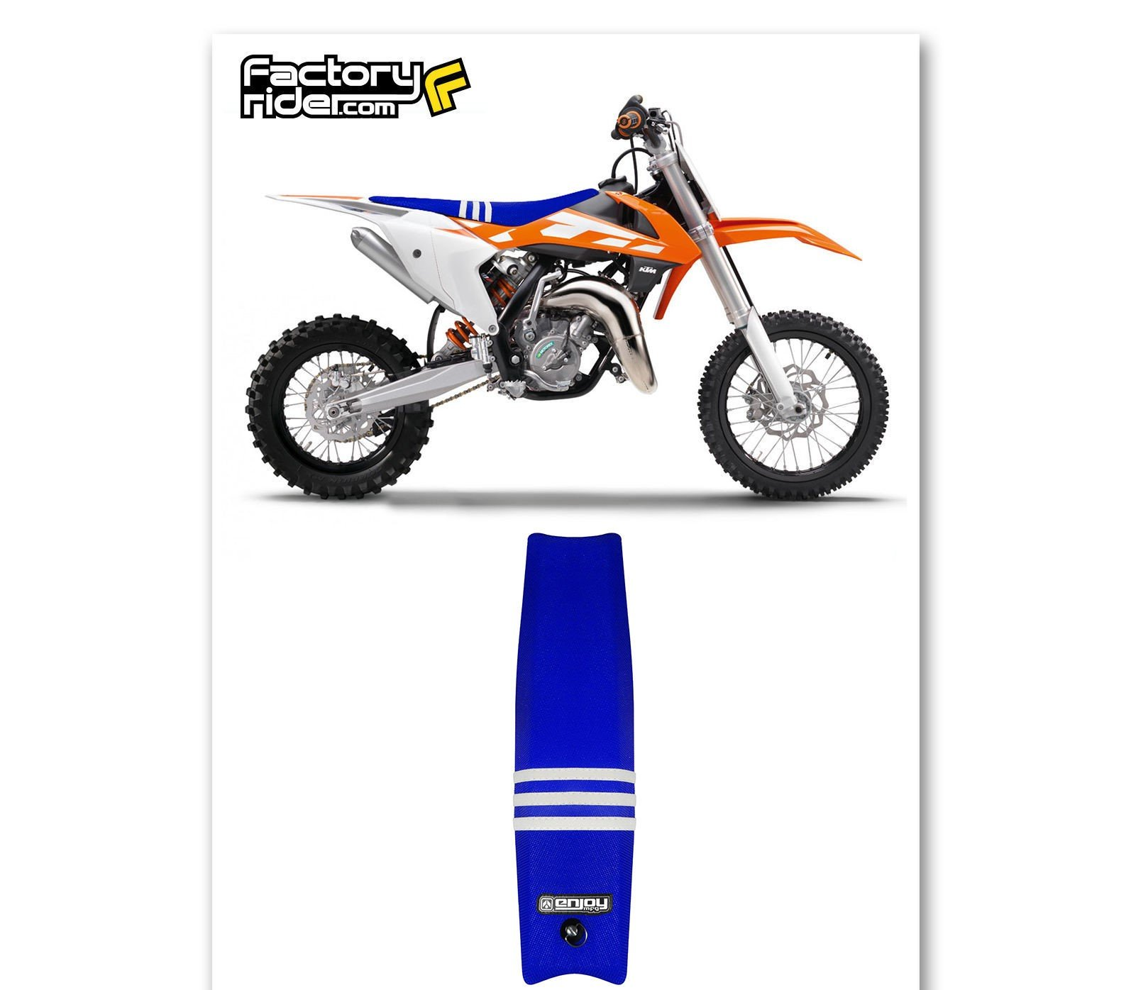 Avenida acantilado terciopelo  Enjoy MFG Ribbed Seat Cover for 2007-2010 KTM SX/SXF Later Models Jdr Seat  Covers