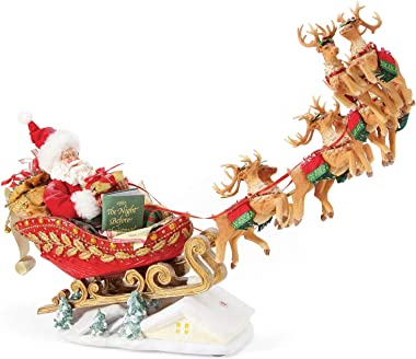 Department 56 Possible Dreams Santa Christmas Traditions Anniversary Edition Dash Away Personalizable Sound Figurine, 14.5 In