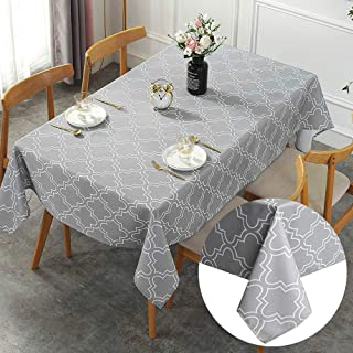 YISK Store Rectangle Water Resistant Table Cloth, 8-10 Seater, 60x102inches(150x259cm) Lantern Flower Pattern Tablecloth f...