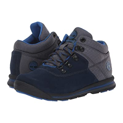 Timberland Kids GT Rally Mid (Little Kid) (Navy Suede/Fabric) Kids Shoes