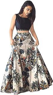 429ce102de Ocean Dream Women's Bangalore Silk Printed Semi-stitched Lehenga Choli (Jp  Jp Jp,