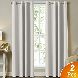 Turquoize Room Darkening Window Treatment Room Darkening Solid Grommet Curtains/Drapes for Bedroom Curtains for Living Room, 52