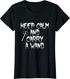 Womens Keep Calm And Carry A Wand T-Shirt