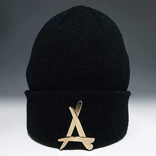 "Tha Alumni Clothing (アルムナイクロージング) ロゴ ニットキャップ ブラック""24K BLACK BEANIE (GOLD)"" [並行輸入品]"