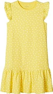 NAME IT M/ädchen Jerseykleid Gr.128-164 Sommerkleid hellblau Muscheln neu!
