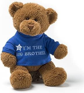 "GUND I'm the Big Brother T-Shirt Teddy Bear Stuffed Animal Plush, Blue, 12"""