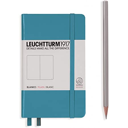 LEUCHTTURM1917 Hardcover Small (A6) Pocket Notebook, Nordic Blue, Dotted