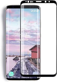 "YRMJK Galaxy S9 Plus Screen Protector,3D Full Screen Compatible Galaxy S9 Plus Tempered Glass Screen Protector[Curved Dot Matrix][No Bubbles][Anti Fingerprint] (6.2"")(NOT S9)"