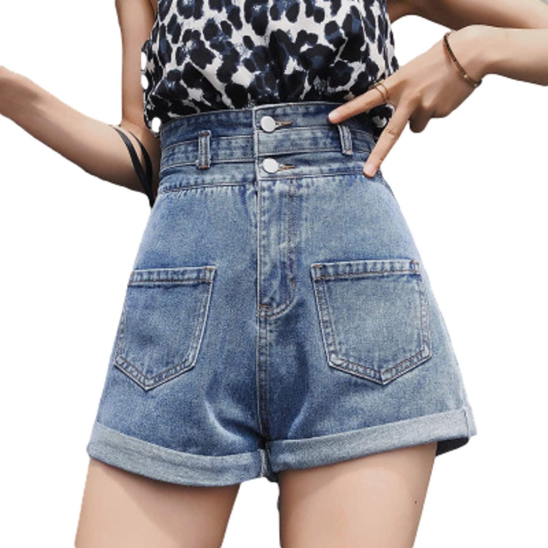 Women's Retro Washed Denim Shorts Fashion Loose Versatile Simple Casual