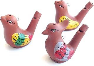 HC enterprise Lot de 3 sifflets en céramique Motif oiseau