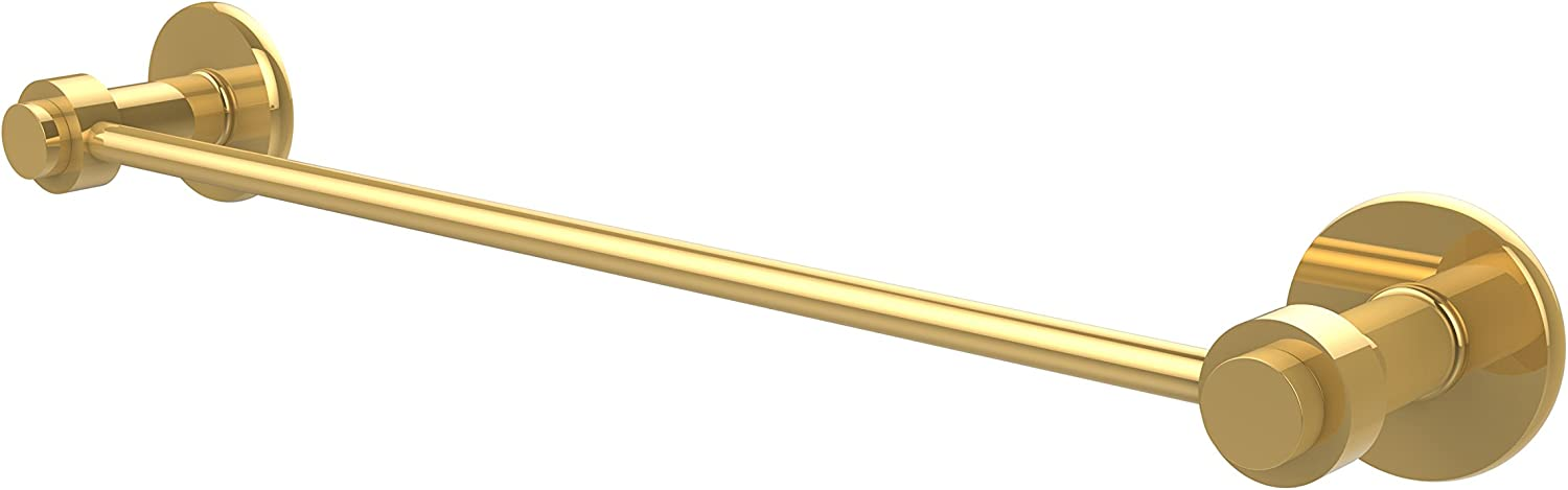 Allied Brass 931 18-PB 18-Inch Towel Bar, 1 2-Inch, Polished Brass