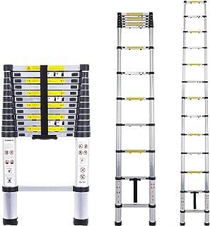 Myifan Telescopic Ladder Multi-Purpose Aluminium Telescoping Ladder Extension Extend Portable Ladder Foldable Ladder EN131Standards (16Ft / 4.9M)
