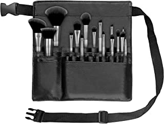 حقيبة فرش الماكياج المحمولة 22 جيبًا، حقيبة فرش مستحضرات التجميل، حقيبة منظم لفرش الماكياج مع حزام خصر للنساء والفتيات