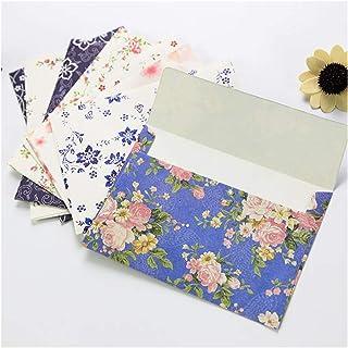 10 Pcs/set Lovely Beautiful Flowers Envelopes Letterhead Cherry Roses Letter Paper Fresh Elegant Floral Envelopes Stationery