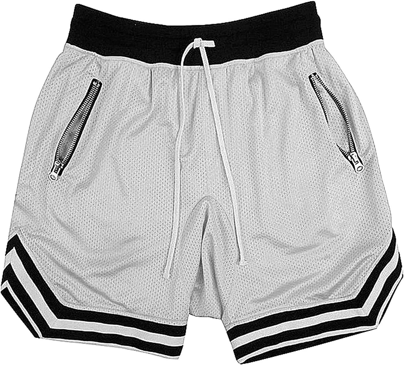 Max 80% OFF Men's Mesh Athletic Training Shorts Dr with Quick Pockets shop Zipper