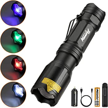 Red//Green//Blue Beam Light LED Flashlights Night Vision Torch For Campiny1 WY