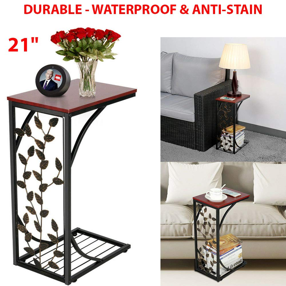 C Small Side End Tables Snack Accent Console Laptop Table Nightstands Storage