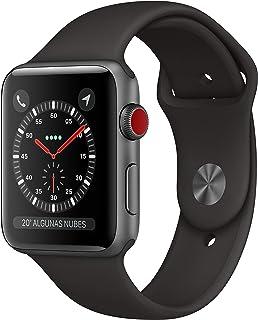 AppleWatch Series3 (GPS+Cellular, 42mm) Aluminio en Gris Espacial - Correa Deportiva Negro