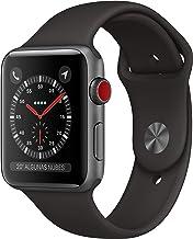 AppleWatchSeries3 (GPS+Cellular) concaja de 42mm de aluminio engris espacial ycorrea deportiva - Negra