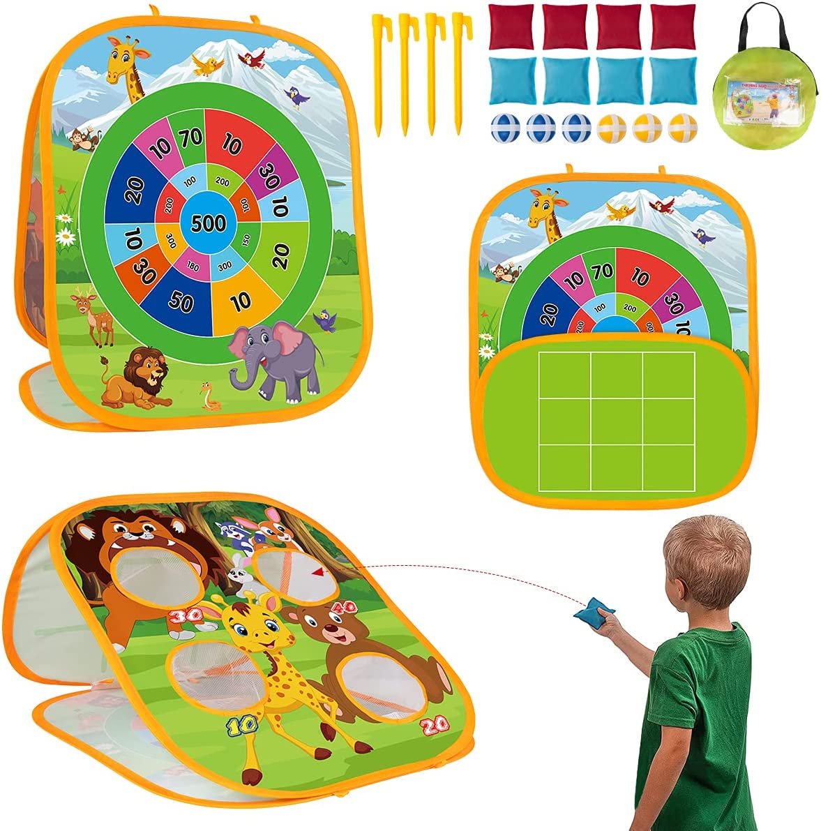 3 in 1 Bean Bag Toss Game Toys To for wholesale Kids Max 68% OFF Outside Set