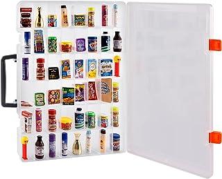 کیف جمع آوری برندهای کوچک سازگار با سری 5 سورپرایز 1 2 3 Mystery Capsule مارک های مینیاتوری واقعی اسباب بازی های جمع آوری/ Shopkins Littles Real، Mini Mart Toys Storage Organizer Container (فقط جعبه)