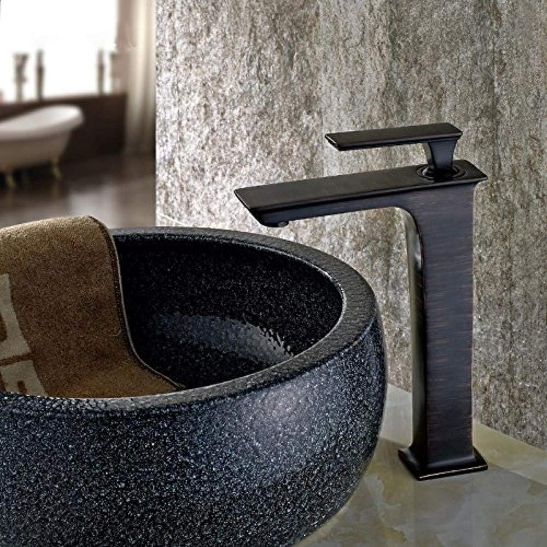 Waschtischarmaturen Griff Waschbecken Eitelkeit Toilette Waschbecken Wasserhahn Schwarz Farbe Wasserhahn