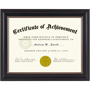 Documents Display Award 8 5x11 Certificate Frames Document Frame Solid Black 2 Diploma Pictures Cerficates Document Frames Home