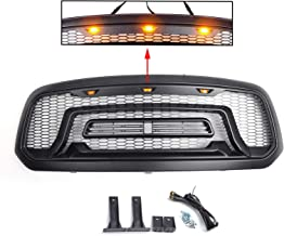 Areyourshop Bumper Grill fit for 13-18 Ram 1500 ABS Honeycomb Grille Mesh Rebel Style Black