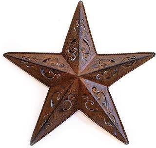 RUSTY LACY METAL BARN STAR 24 - 1X 24