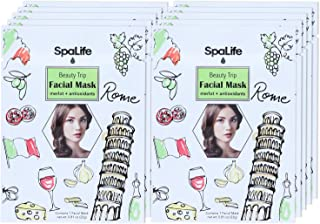 SpaLife Hydrating, Purifying, Anti-Aging, Detoxifying and Soothing Korean Facial Masks - 10 Masks (Merlot + Anti-oxidants)