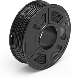 TECBEARS PLA 3D Printer Filament 1.75mm Black, Dimensional Accuracy +/- 0.02 mm, 1 Kg Spool, Pack of 1