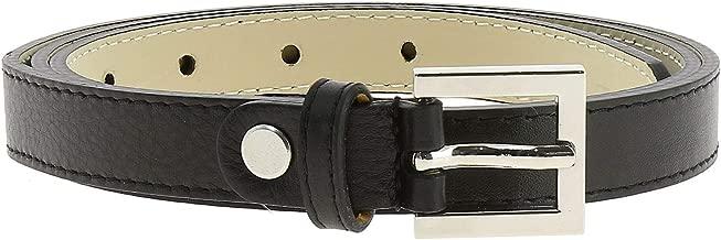 FASHIONGEN - Belt Genuine Italian leather, leather Nubuk lined for women, width 0.75in, LINDA