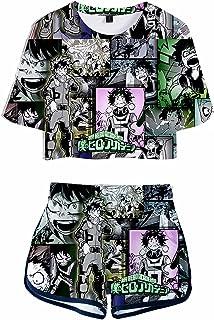 Giron My Hero Academia 3D - Set di abbigliamento sportivo con stampa anime Boku no Hero Tracksuits Summer Sleeve Manga Her...