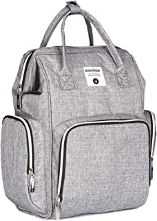 INSULAR 10026 Diaper Bag Backpack with Changing Pad and Anti-Water Material for Both Mom & Dad Grey INSULAR-10056B