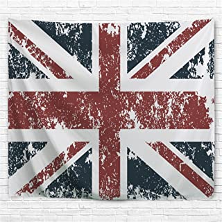 BJHAP Vintage Retro UK Flag Tapestry Wall Decor, Classic Traditional Union Jack Flag United Kingdom Modern British Loyalty Symbol Tapestry Wall Hanging for Bedroom Living Room Dorm 60x51 Inches