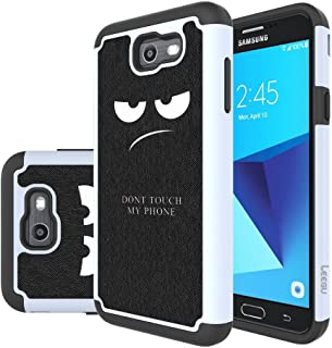 J7 V Case, J7 Perx Case, J7 Sky Pro Case, J7V Case, Galaxy Halo Case, J7 Prime Case, LEEGU Dual Layer Heavy Protective Silicone Plastic Cover Case for Samsung Galaxy J7 2017 - Don't Touch My Phone