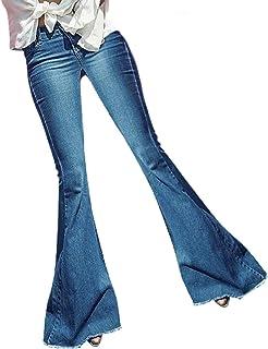 K-Youth® Vaqueros Anchos Mujer Tallas Grandes Vaqueros Ceñidos de Tiro Alto Mujer Elástico Vaqueros Mujer Acampanados Slim...