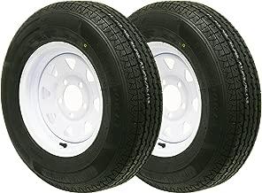2 New trailer tire wheel assembly ST185/80R13 6PR on 13