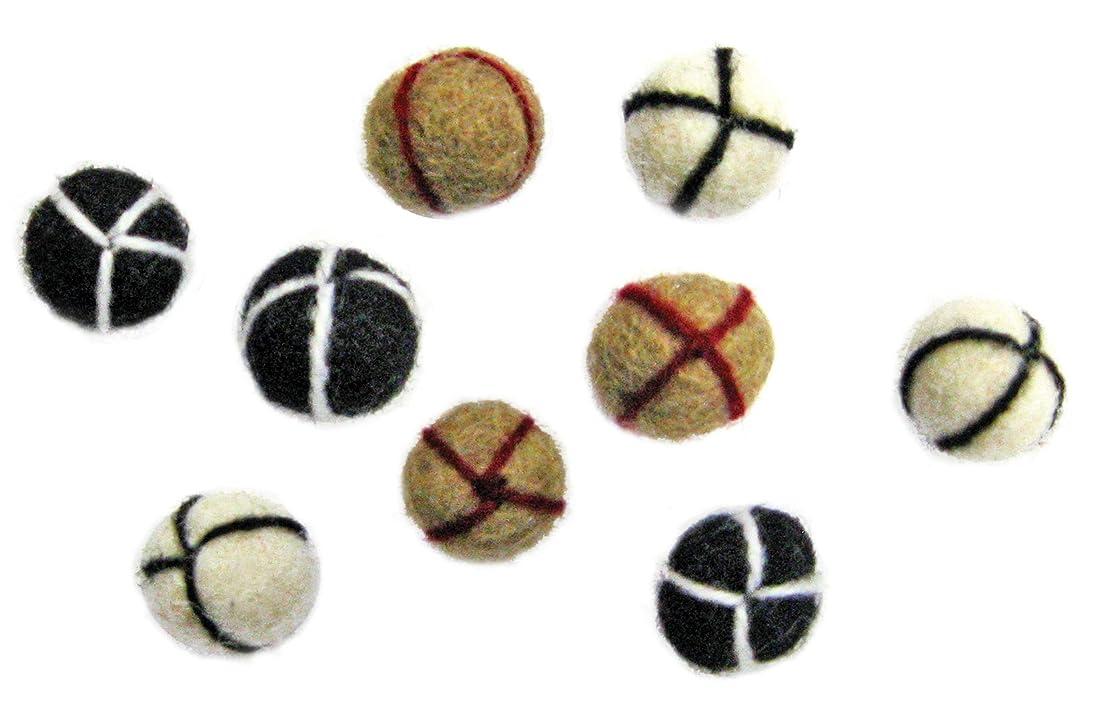 Dimensions Needlecraft Felt Embellishments, Neutral Embroidered Balls