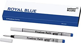 Montblanc Fineliner Refills (B) Pacific Blue 105171 – Pen Refills for Fineliner and Rollerball Pens by Montblanc – 2 x Fiber Tip Pen Refill