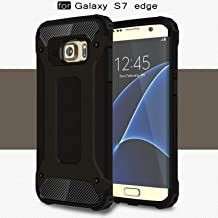 LXHGrowH Funda Samsung Galaxy S7 Edge, Fundas 2in1 Dual Layer Anti-Shock 360° Full Body Protección TPU Silicona Gel Bumper y Duro PC Armadura Carcasa para Samsung Galaxy S7 Edge, Negro