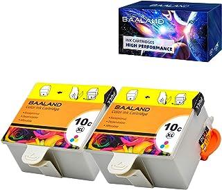 خراطيش حبر ملونة Kodak 10C المتوافقة مع BAALAND عبوتان استخدمان لكاميرا Kodak ESP 3250 5100 5300 5500 ESP3250 ESP5250 ESP3...
